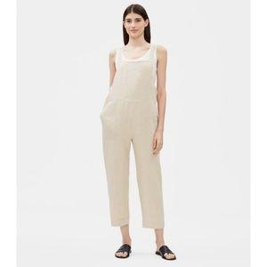 Eileen Fisher Organic Linen Cropped Jumpsuit
